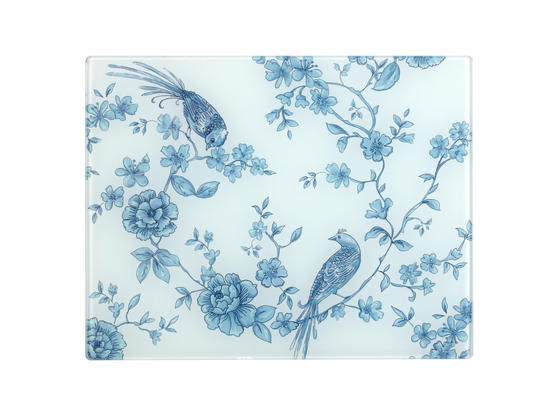 Inspire WC284815 Luxury Angelica Placemats, 28 x 22cm, Glass, Clear, Set of 4