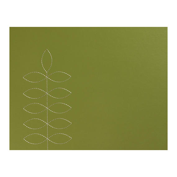 Indulje HY278371 Luxury Leaf Green Leather Placemats, 28 x 22cm, Faux Leather, Green, Set of 4