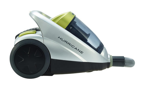 Hoover Hurricane Cylinder Vacuum Cleaner, 2 Litre, 850W, Black/Silver [Energy Class A]