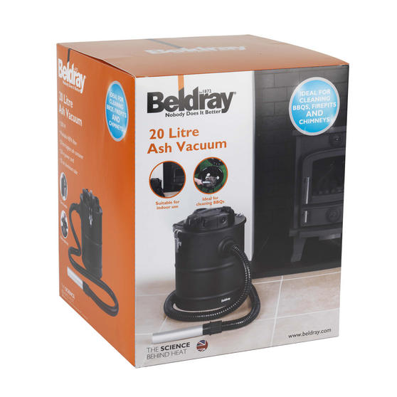 Beldray Ash Fireplace BBQ Chimney Vacuum Cleaner, 1200 W, 20 Litre Thumbnail 6