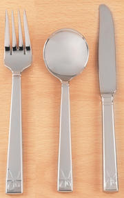 Vera Wang Love Knots Stainless Steel Starter Cutlery Set, Fork, Knife, Soup Spoon Thumbnail 2