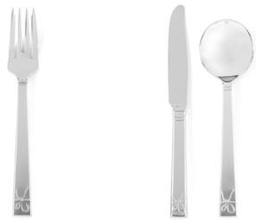 Vera Wang Love Knots Stainless Steel Starter Cutlery Set, Fork, Knife, Soup Spoon Thumbnail 3