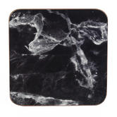 Indulje UN000088 Luxury Marquina Coasters, 10 x 10cm, Hardboard, Black/White, Set of 4