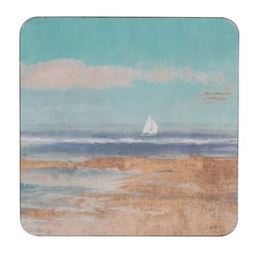 Inspire TW290397 Luxury Sail Away Coasters, 29 x 29cm, Hardboard, Multicolour, Set of 4