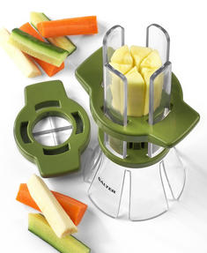 Salter Fruit and Vegetable Baton Stick Slicer, White/Green Thumbnail 3