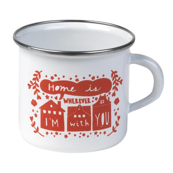 Cambridge BW0397502 Enamel Home Is With You Mug, 350 ml