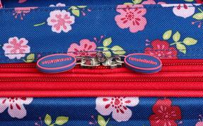 Constellation Eva Ditsy Floral Print Suitcase, 18?, Raspberry Thumbnail 5