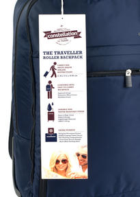 Constellation The Traveller Multifunctional Waterproof Suitcase Backpack, Navy Thumbnail 5