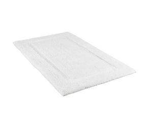 Beldray LA038999 2 Piece Latex Backed Embossed White Bathroom Mat Set Thumbnail 2
