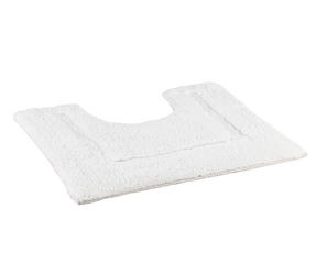 Beldray LA038999 2 Piece Latex Backed Embossed White Bathroom Mat Set Thumbnail 3