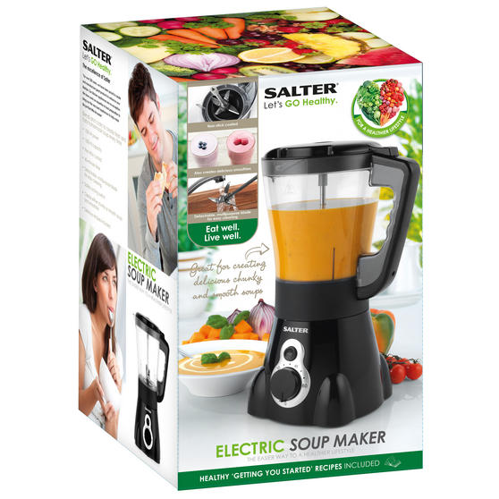 salter ek2401 go healthy electric soup maker with. Black Bedroom Furniture Sets. Home Design Ideas
