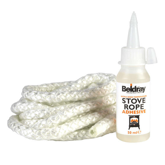 Beldray 9 mm Replacement Stove Rope Kit with Glue Thumbnail 1