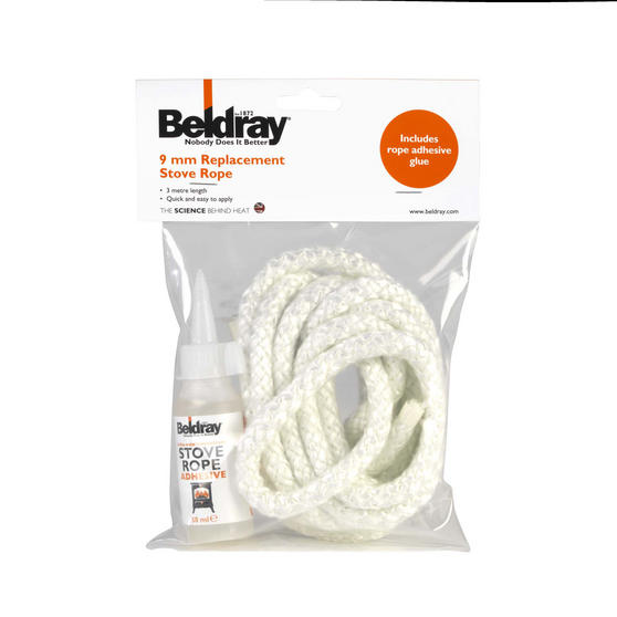 Beldray 9 mm Replacement Stove Rope Kit with Glue Thumbnail 2