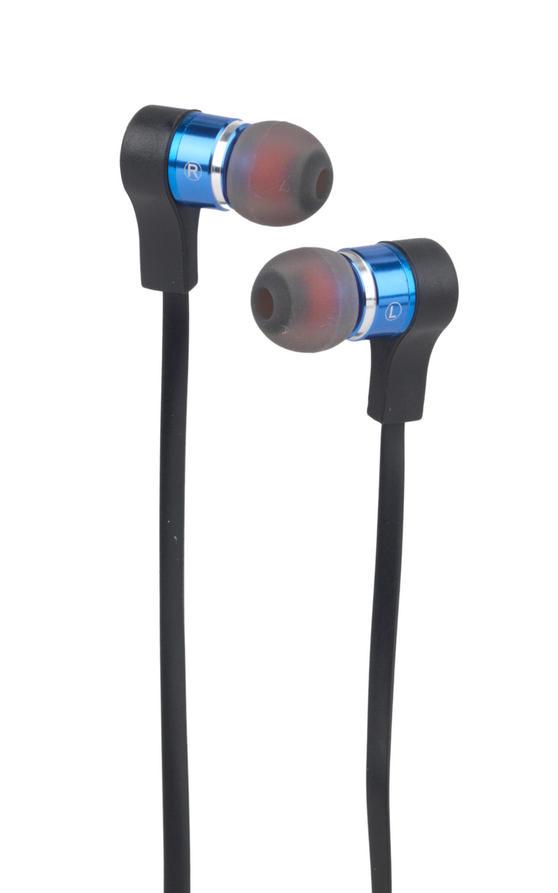Intempo EE1212BLU Metal Earphones, Blue