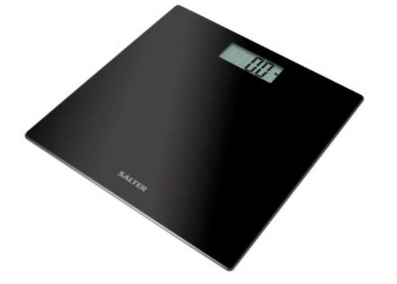 Salter 9048BK3T Ultra Slim Glass Electronic Scale, Black