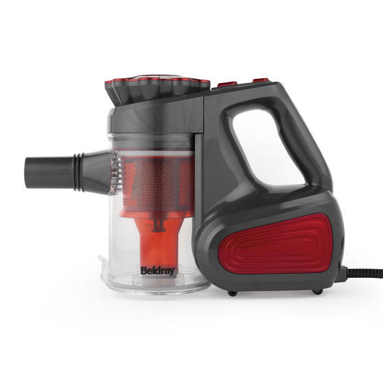 Beldray Quick Vac Lite 2-in-1 Handheld Stick Vacuum Cleaner, 0.6 Litre, 600 W, Red Thumbnail 3