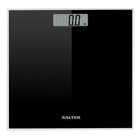 Salter Glass Electronic Digital Bathroom Scale, Black Thumbnail 2