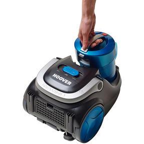 Hoover Blaze Pets Compact Bagless Cylinder Vacuum Cleaner, 700W, 1.5 Litre, Black/Blue Thumbnail 5