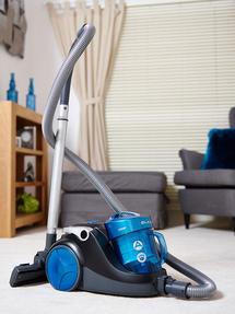 Hoover Blaze Pets Compact Bagless Cylinder Vacuum Cleaner, 700W, 1.5 Litre, Black/Blue Thumbnail 6