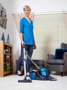 Hoover Blaze Pets Compact Bagless Cylinder Vacuum Cleaner, 700W, 1.5 Litre, Black/Blue Thumbnail 7