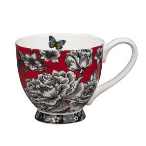 Portobello Sandringham Shaded Flowers Footed Bone China Mugs, Mixed Set of 4 Thumbnail 5