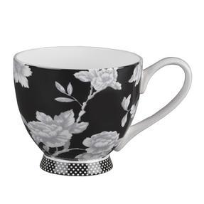 Portobello Sandringham Shaded Flowers Footed Bone China Mugs, Mixed Set of 4 Thumbnail 6