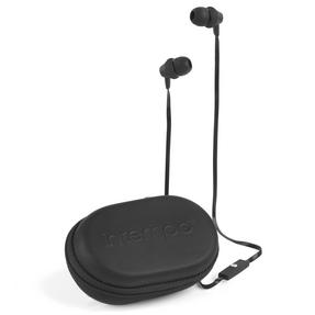 Intempo Travel Earphones with Carry Case, Black Thumbnail 1