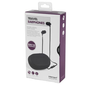 Intempo Travel Earphones with Carry Case, Black Thumbnail 7