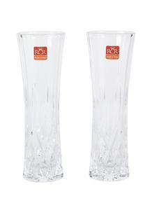 "RCR Opera Luxion Crystal Glass Vase, 10"", Set of 2"