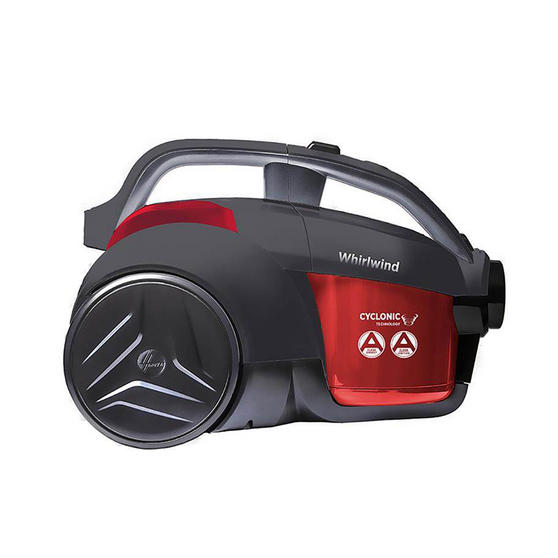 Hoover Whirlwind Cylinder Vacuum Cleaner, 1.2 Litre, 700W, Red/Grey