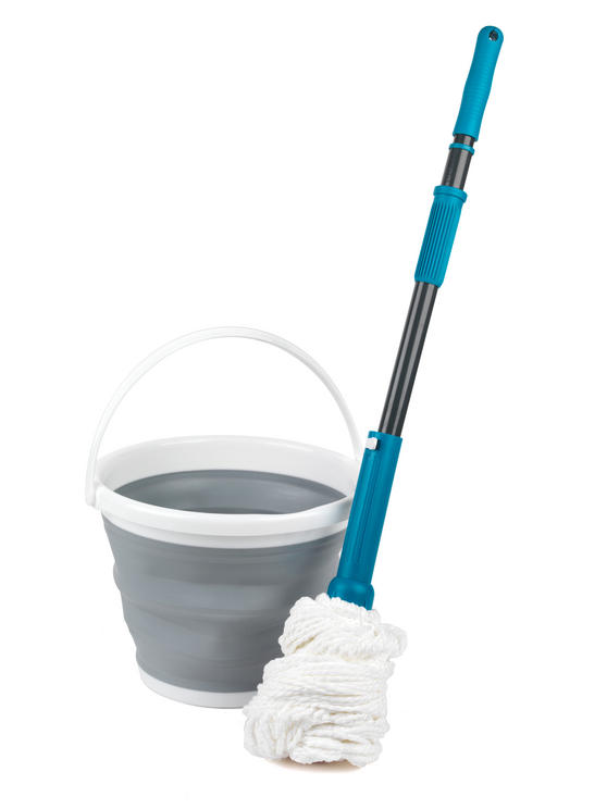 Beldray Extendable Twist Mop and 10 Litre Collapsible Bucket Set