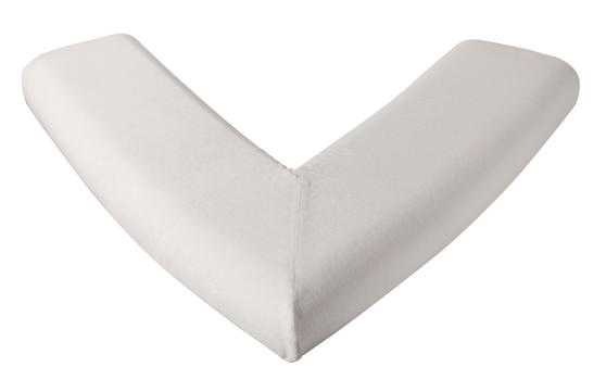 Dreamtime Large Orthopaedic Memory Foam V-Shaped Pillow, White