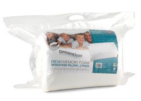Dreamtime MFAB0321TWIN Fresh Memory Foam Sensation Pillow, Twin Pack Thumbnail 1