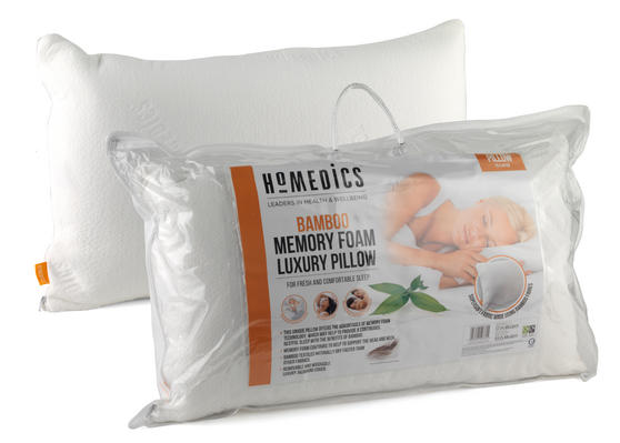HoMedics MFHB07815 Luxury Memory Foam Bamboo Pillow, 70 x 40 cm