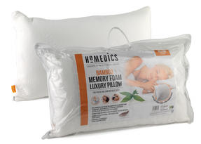 HoMedics MFHB07815 Luxury Memory Foam Bamboo Pillow, 70 x 40 cm Thumbnail 1