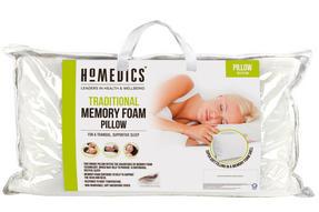 HoMedics MFHST85472 Traditional Memory Foam Pillow, 69 x 37 cm Thumbnail 2