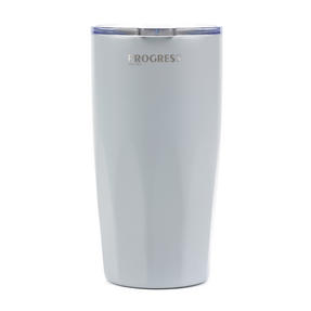 Progress Thermal Insulated Travel Cup Tumbler with Lid, 550 ml, Stainless Steel, Grey