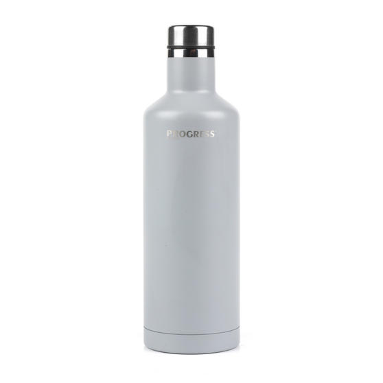 Progress BW05856S Thermal Insulated Travel Bottle with Screw Top Lid, 500 ml, Stainless Steel, Grey