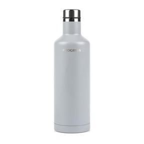 Progress Thermal Insulated Travel Bottle with Screw Top Lid, 500 ml, Stainless Steel, Grey