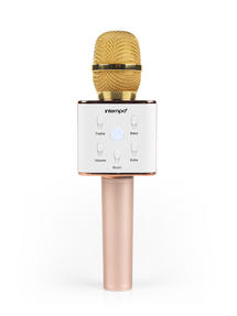 Intempo Karaoke Microphone, Rose Gold/Gold Thumbnail 1