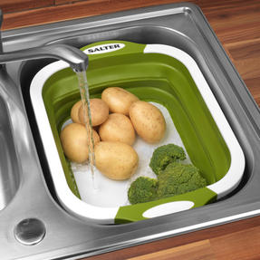 Salter 2 in 1 Collapsible Chopping Board and Colander Thumbnail 7