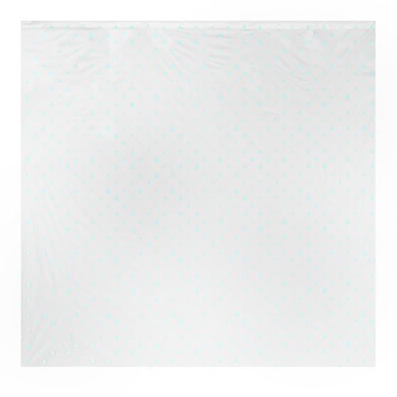 Beldray Raindrops Shower Curtain with Hooks, 180 x 180cm, PEVA, White/Aqua Thumbnail 2