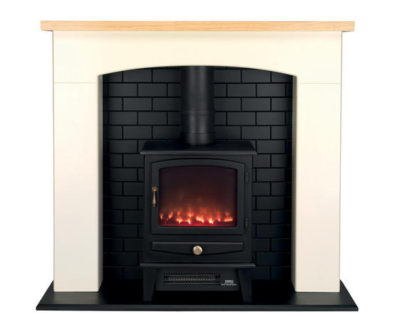 Beldray Millom Stove Suite with Fire Surround and LED Flame Effect, 2000W