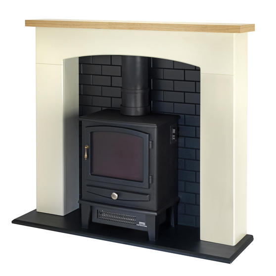 Beldray Millom Stove Suite with Fire Surround and LED Flame Effect, 2000W Thumbnail 2