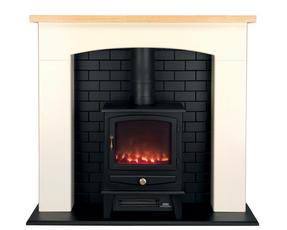 Beldray EH1780 Millom Stove Suite with Fire Surround and LED Flame Effect, 2000W