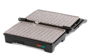 Salter Marble Collection 2 in 1 Ceramic Fold-Out Health Grill and Panini Maker, Grey Thumbnail 3