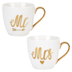 Cambridge CM05168MTL Limited Edition Gold Mr Heart Fine China Mug Thumbnail 2