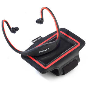 Intempo EE1784RBSTK Bluetooth Wireless Sports Earphones Running Set, Black/Red