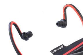 Intempo EE1784RBSTK Bluetooth Wireless Sports Earphones Running Set, Black/Red Thumbnail 3