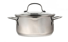 Thomas Rosenthal Cook & Pour Casserole Pot with Glass Lid, 20cm, 2.8 Litre, Stainless Steel Thumbnail 2